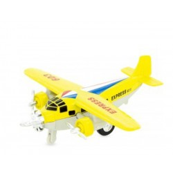 Avión de mensajería amarillo