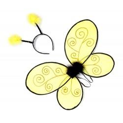 Diadema y alas de abeja