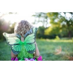 Disfraz de hada con flores verdes (3-6 años)