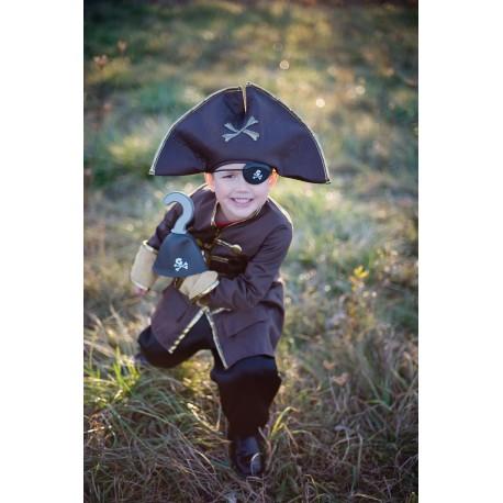 Disfraz Capitán Hook marrón (5-6 años)