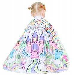 Capa mágica de princesa del castillo encantado para colorear (4-7 años)