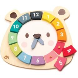 Reloj de piezas de madera carita oso