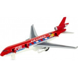 Avión reactivo rojo