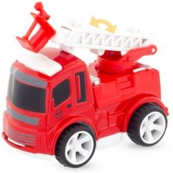 Camión de bomberos con escalera y plataforma baja