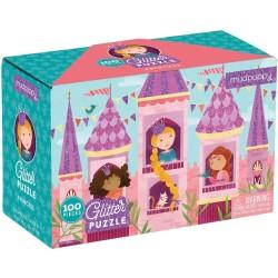 Puzle de 100 piezas con purpurina princesas