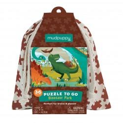 Puzle en bolsa de 36 piezas de dinosaurios