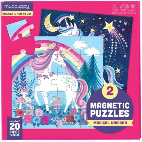 Puzle magnético de unicornios