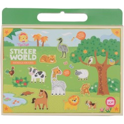 Pegatinas de animales (Sticker World Animals Abound)