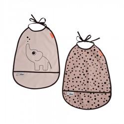 Pack de 2 Baberos impermeables Elphee Rosa