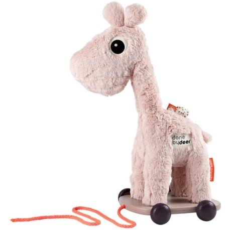 Raffi, la jirafa rosa de arrastre