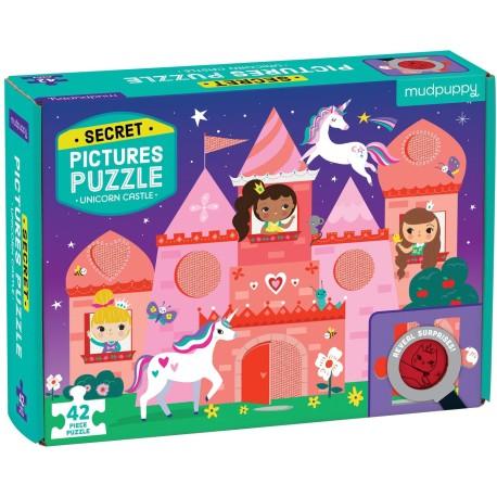 """Puzle """"el secreto del castillo"""" de 42 piezas unicornios"""