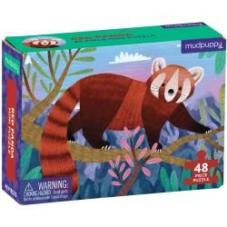 Mini puzle panda rojo de 48 piezas