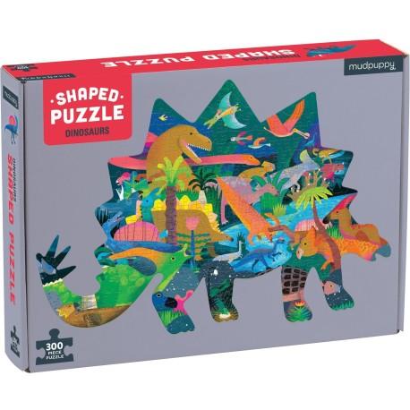 """Puzle de escena con forma de 300 piezas """"Dinosaurios"""""""