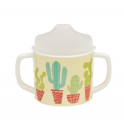 Taza con boquilla y asas Happy Cactus
