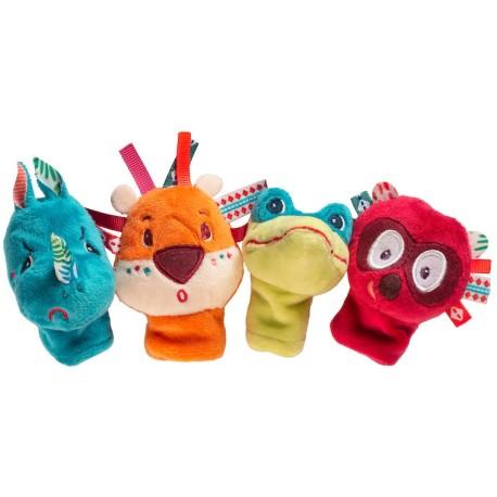 Marionetas de dedo de la jungla