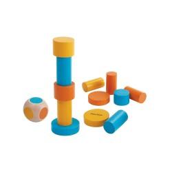 Juego de 12 formas apilables de colores