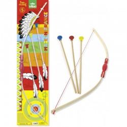 Arco de madera con 3 flechas (3 flèches sur carte - Bow & 3 arrows)