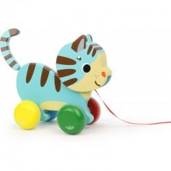 Marcel, el gatito de madera de arrastre