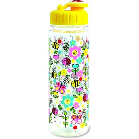Botella infantil grande de tritán Flores