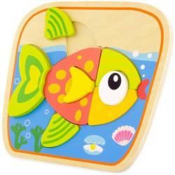 Puzle del pez de 9 piezas