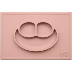 Vajilla infantil de silicona The Happy Mat rosa palo (blush)