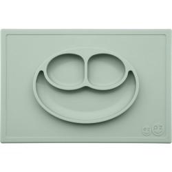 Vajilla infantil de silicona The Happy Mat verde salvia (sage)