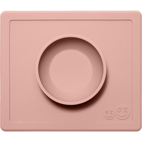 Vajilla infantil de silicona The Happy Bowl rosa palo (blush)