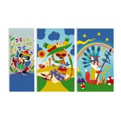 Arena de colores para decorar láminas