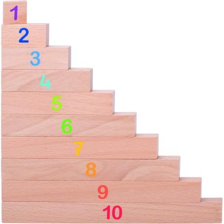 Palitos de madera para aprender a contar