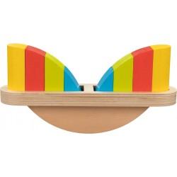 Juego de equilibrio con piezas de madera de colores