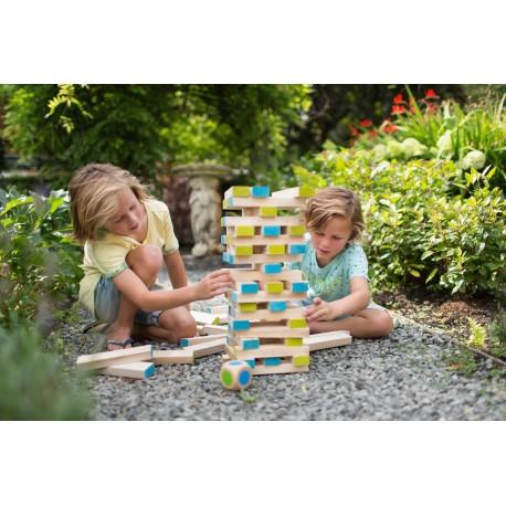 Juego de habilidad torre de ladrillos de madera