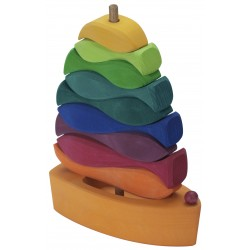 Peces apilables de colores de madera