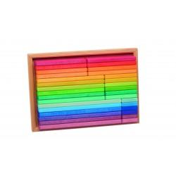 Set de construcción arcoíris de madera