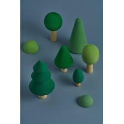 Set de árboles del bosque