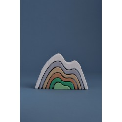 Arco montañas pequeño apilable