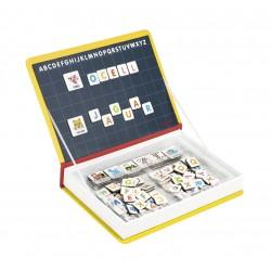 Maletín-libro magnético para aprender el alfabeto catalán