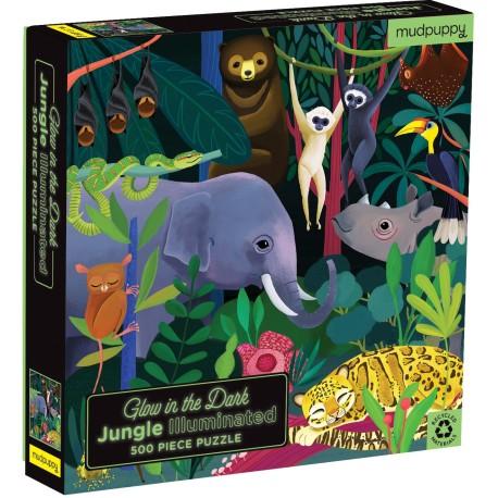 Puzle fluorescente de 500 piezas de la jungla