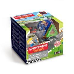 Set de construcción de coche de carreras motorizado (13 piezas)