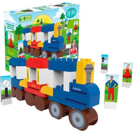 Bloques para construir un tren y su estación (41 pcs.)