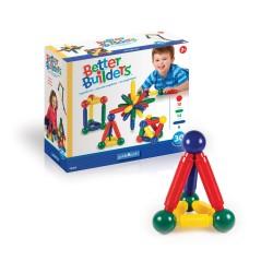 Set de construcción magnético de 30 piezas de colores