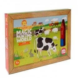 Pintura mágica de la granja