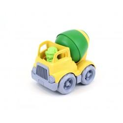 Camión hormigonera de plástico eco amarillo/verde