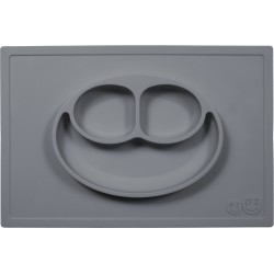 Vajilla de silicona The Happy Mat gris