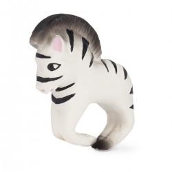Zoe, la zebra mordedor de caucho
