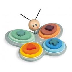 Mariposa de colores para encajar formas Sweet Cocoon