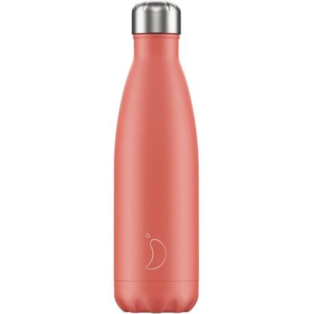 Botella inox coral pastel de 500 ml