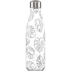 Botella inox contorno de hojas de 500 ml