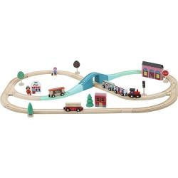 Set completo del gran tren express de madera