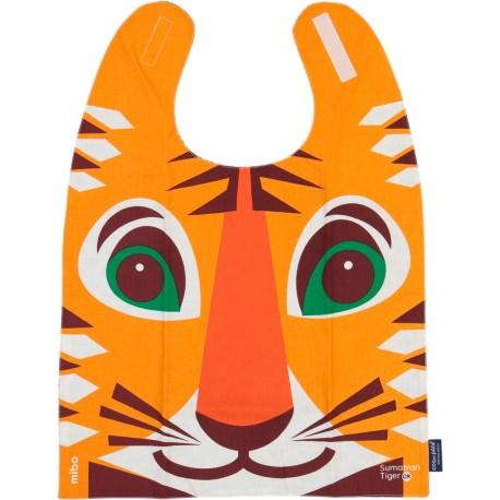 Babero gigante 100% algodón orgánico del tigre