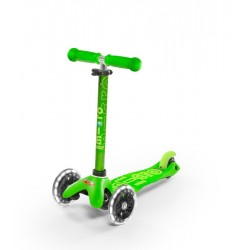 Patinete Mini Deluxe Verde con luces LED